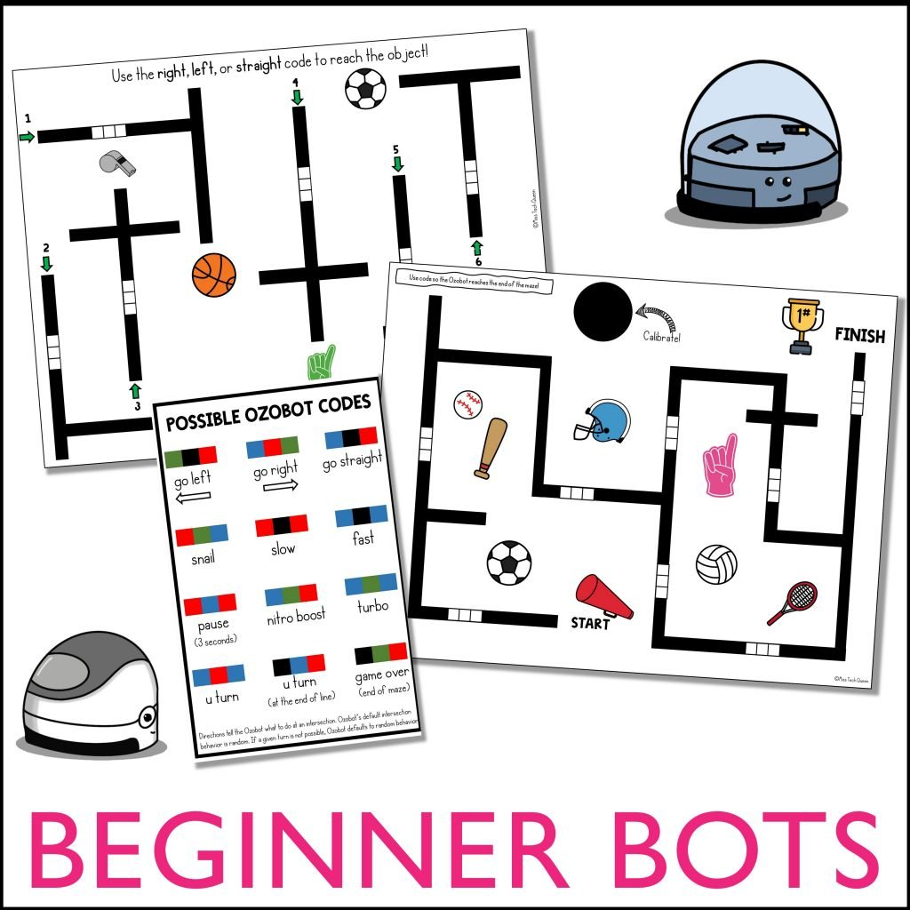 These Beginner Ozobot mazes will help you introduce coding with Ozobots in your classroom. You can get them for free by signing up here.