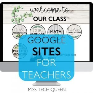 google sites for teachers