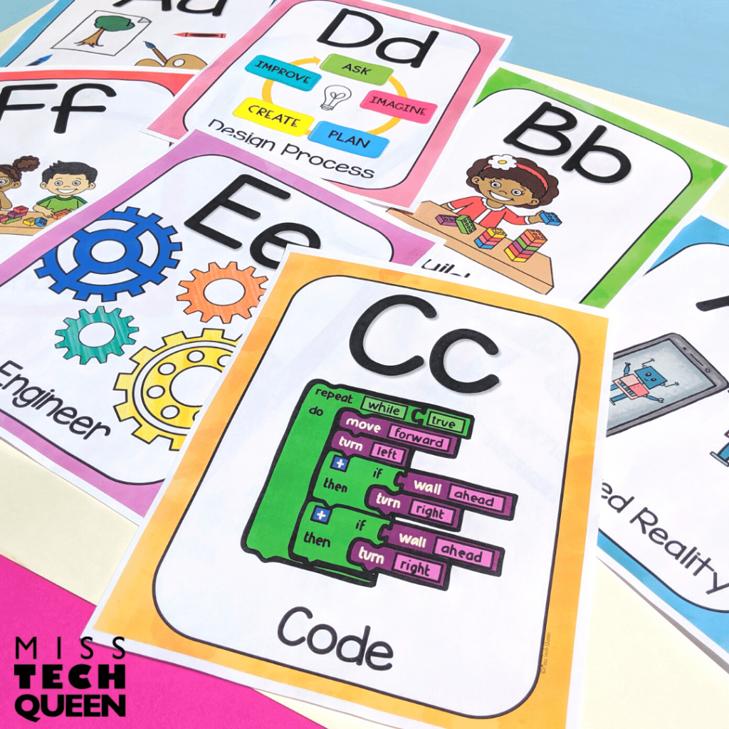 Decorate your STEM Classroom with this STEM and STEAM themed classroom alphabet