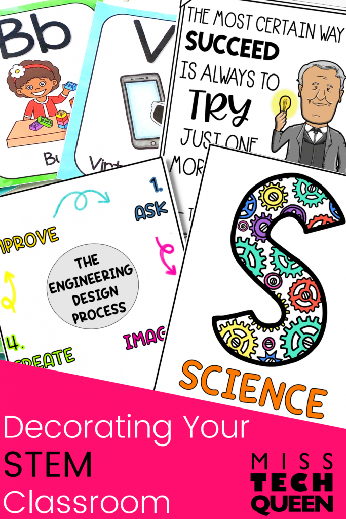 Tips and Ideas for Decorating your STEM Classroom