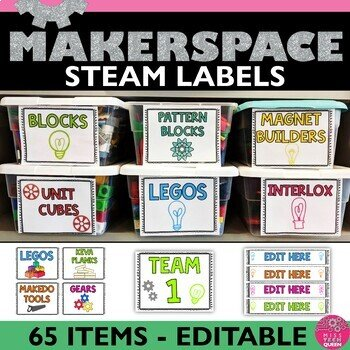 Labels to help organize the STEM Classroom or Makerspace