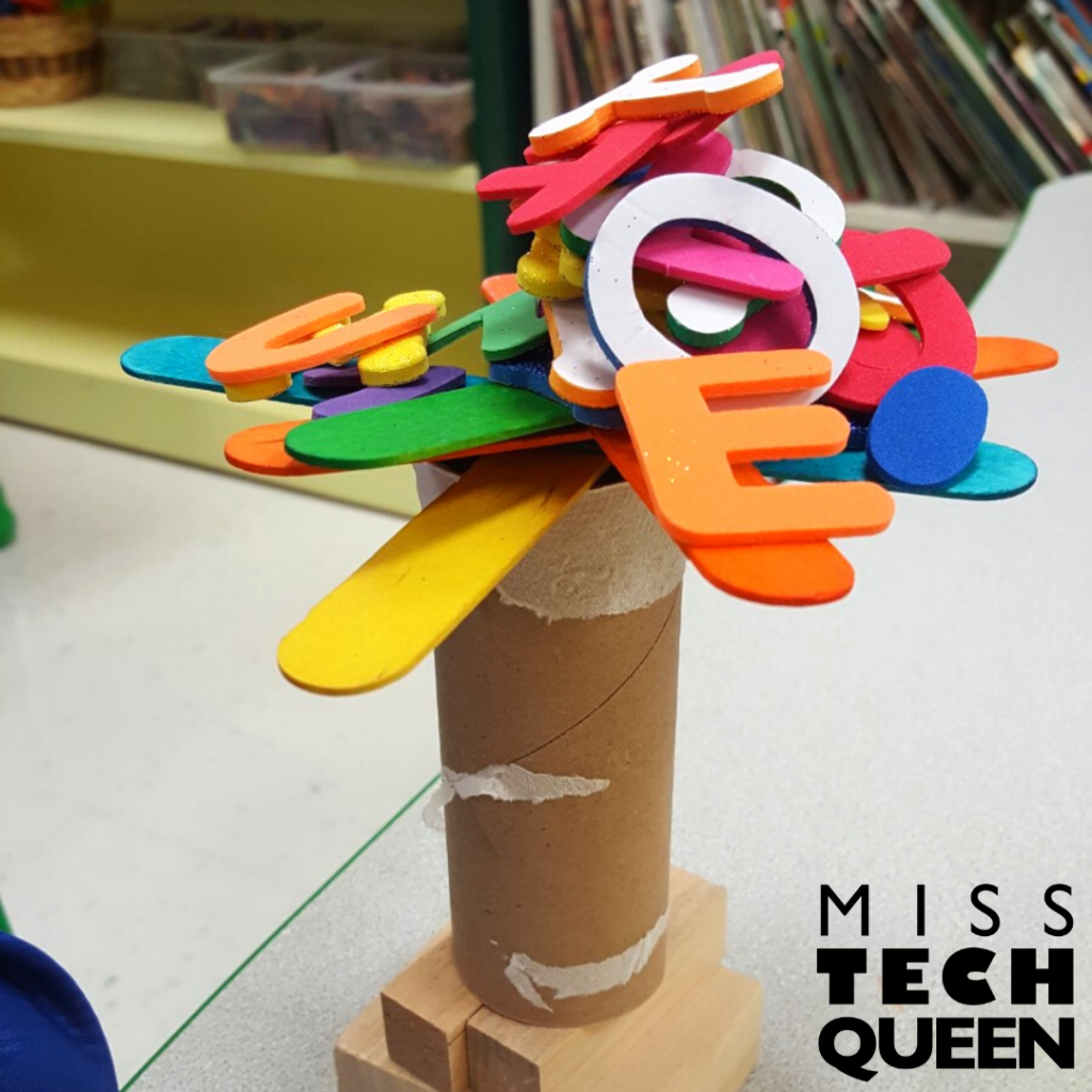 Recycling themed STEM activities are the perfect way to reuse objects and supplies that would otherwise be thrown away.