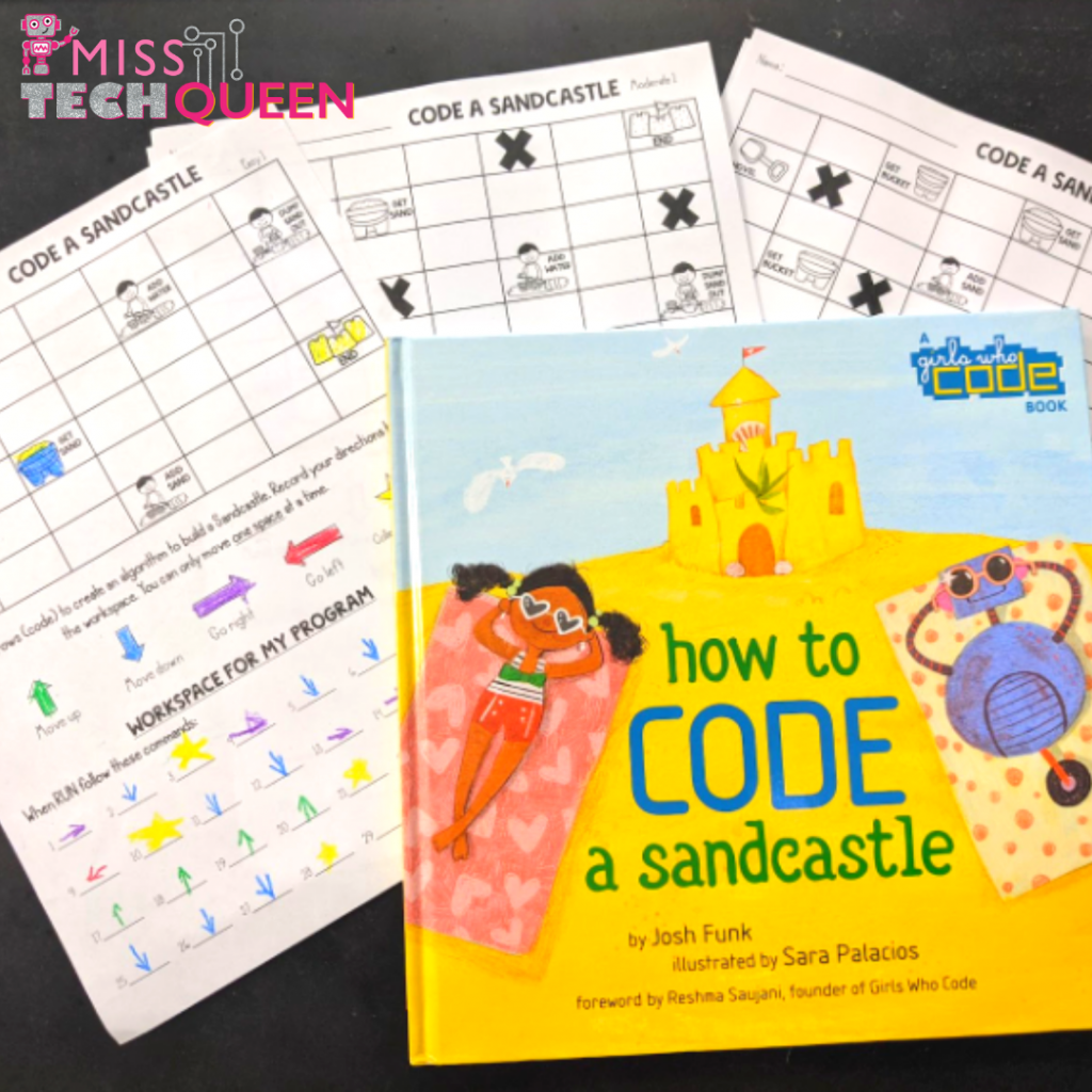 Coding stations don't have to include technology. Kids can learn to code with clever challenges!