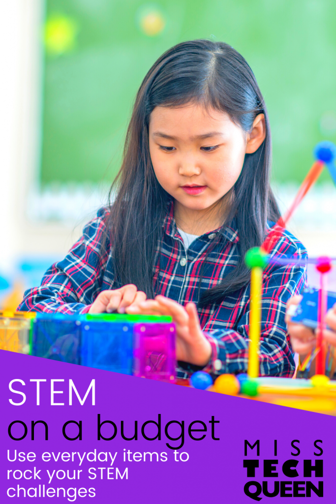 Incorporating STEM activities into your classroom doesn't have to be expensive.  This post details easy ways that you can complete STEM projects and challenges without spending a lot of money.  Need ideas for budget friendly STEM click here for ideas!