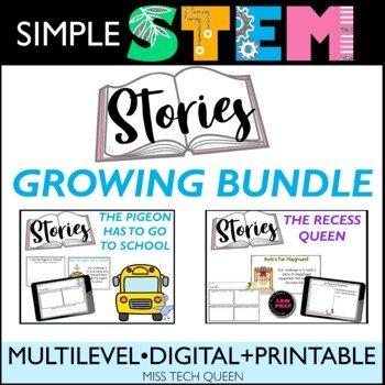 Simple STEM Stories growing bundle of literacy and STEM activities