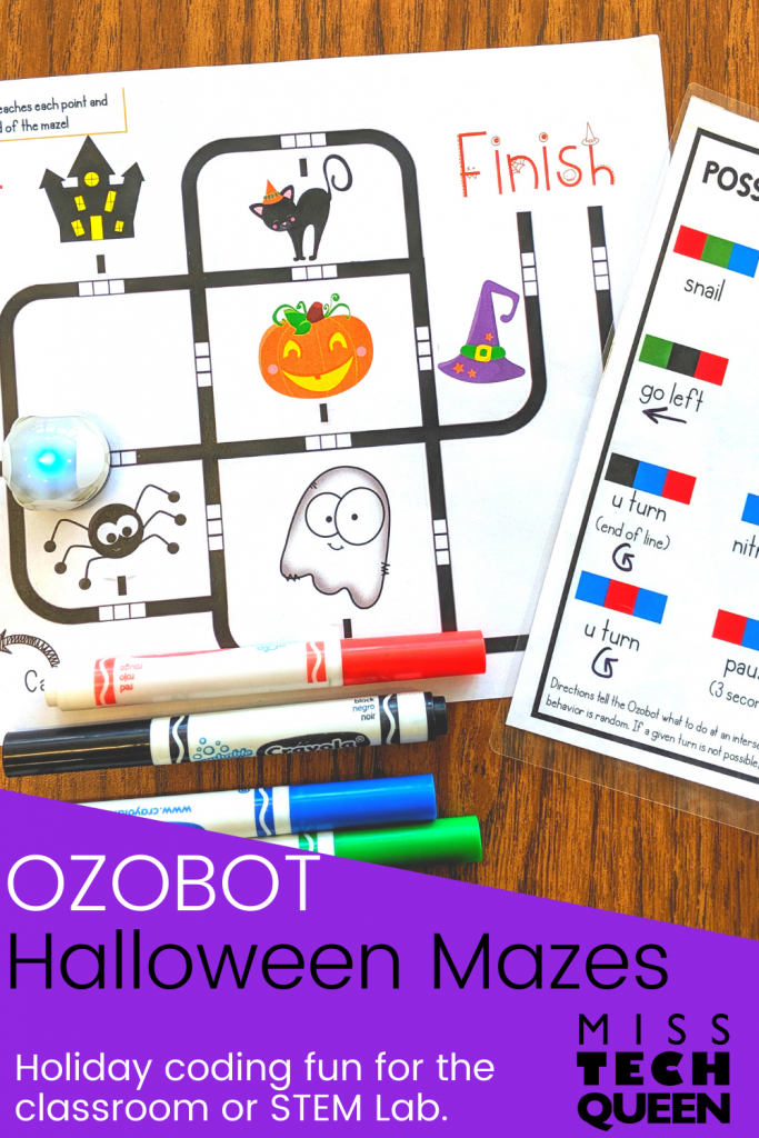 Engage your students and practice coding with these Halloween Ozbot lessons. Your students can use Ozbot mazes to program this robot and learn important coding skills at the same time. Find out all about these Halloween Ozbot lessons in this blog post.