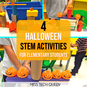 Your elementary students will love completing these Halloween themed STEM challenges this fall.